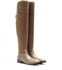 Tory Burch Simone Over The Knee Boots Beige