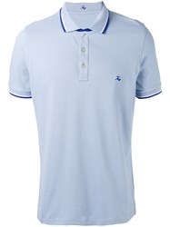 Fay Logo Embroidered Polo Shirt Blue