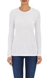 Barneys New York Crewneck Long Sleeve T Shirt White