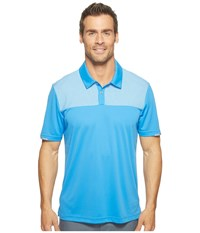 Adidas Climachill Heather Block Competition Polo Blast Blue Men's Short Sleeve Pullover