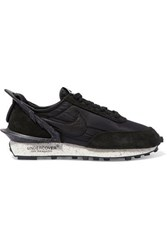 Nike Undercover Daybreak Leather Trimmed Shell And Suede Sneakers Black