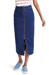 Madewell Women's Zip Front Denim Midi Skirt