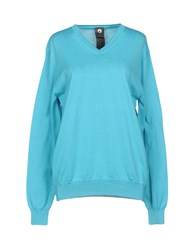 H953 Sweaters Turquoise