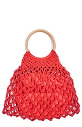 Topshop Benny String Shopper Bag Red