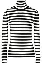 Michael Kors Striped Ribbed Knit Turtleneck Sweater