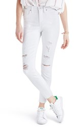 Madewell Women's High Rise Ripped Crop Skinny Jeans