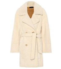 Joseph Jimmy Shearling Belted Coat White