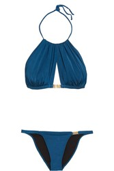 Agent Provocateur L'agent By Tania Embellished Bikini Petrol