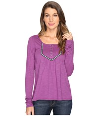 Roper 0606 Slub Jersey Crop Shirt Purple Women's Clothing