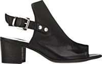 Barneys New York Women's Slingback Sandals Black