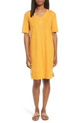 Eileen Fisher Women's Hemp And Organic Cotton Shift Dress Orangeade