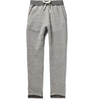 Maison Martin Margiela Slim Fit Tapered Knitted Sweatpants Gray