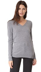 Bop Basics V Neck Cashmere Sweater Charcoal