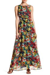 Eva Franco Clarissa Printed Maxi Dress Red