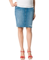 A Pea In The Pod Maternity Secret Fit Belly Denim Pencil Skirt