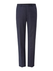 New And Lingwood Plyton Birdseye Tailored Fit Suit Trouser Blue