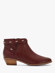 Ted Baker Homada Leather Ankle Boots Mid Brown