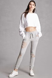 Forever 21 Distressed Terry Joggers