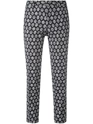 Pt01 New York Patterned Trousers Women Cotton Spandex Elastane 42 Black