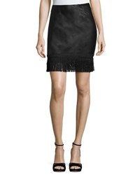 Goldie London Get Down Tonight Faux Leather Skirt Black