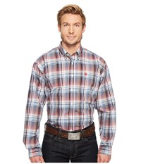 Cinch Long Sleeve Plain Weave Plaid White Men's Clothing