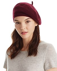 Bloomingdale's C By Angelina Cashmere Beret 100 Exclusive Burgundy