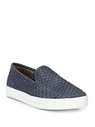 Joie Huxley Python Skate Shoes Dark Denim