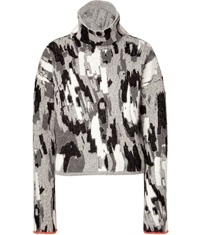 Just Cavalli Angora Wool Blend Turtleneck Pullover