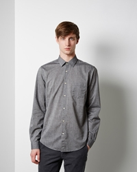 Hope Roy Pocket Shirt Grey Melange