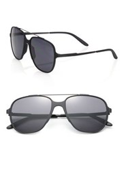 Carrera 55Mm Oversized Square Framed Aviator Black