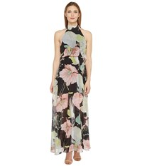 Brigitte Bailey Jacey High Neck Floral Dress Black Blush Women's Dress