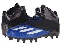 Adidas 5 Star Mid Football Black White Collegiate Royal Men's Cleated Shoes Blue