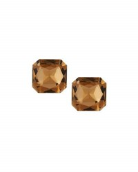 Emily And Ashley Cushion Cut Crystal Stud Earrings Brown