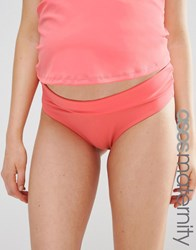 Asos Maternity Fold Over Bikini Bottom Flamingo Pink