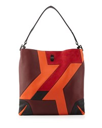 Rag And Bone Sullivan Patchwork Leather Hobo Bag Bordeaux Rag And Bone