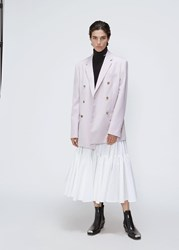 Calvin Klein 205W39nyc 'S Double Breasted Blazer Jacket In Rose Mist Size 40 Wool Cotton Lining