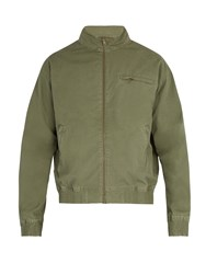 A.P.C. Stonewashed Cotton Bomber Jacket Green