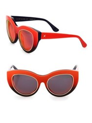 Dax Gabler Cat Eye Sunglasses Red Ombre