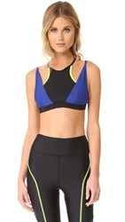 Chromat Dual Racer Sports Bra Black