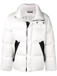 Tom Ford Zip Up Padded Jacket White