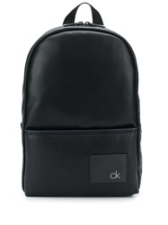 Calvin Klein Round Faux Leather Backpack Black