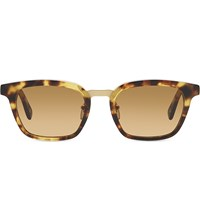 Dick Moby Yellow Havana Square Frame Sunglasses