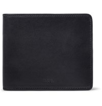 A.P.C. London Leather Billfold Wallet Midnight Blue