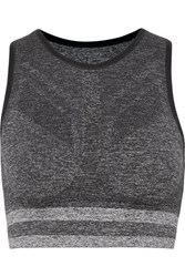 Lndr Shape Stretch Knit Sports Bra Gray