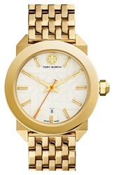 Women's Tory Burch 'Whitney' Bracelet Watch 35Mm Gold Ivory