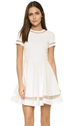 Alice Olivia Frances Mini Flared Dress White