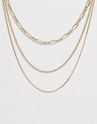 Pieces 3 In 1 Necklace Gold