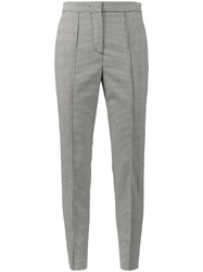 Msgm Prince Of Wales Suit Trousers Polyester Spandex Elastane Viscose Virgin Wool Black