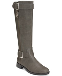 Aerosoles Ride Around Riding Boots Only At Macy's Women's Shoes Grey