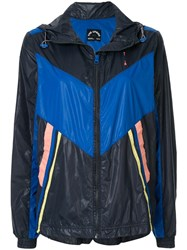 The Upside Colour Block Hooded Jacket Blue
